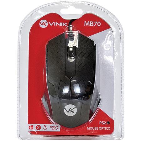 MOUSE PS2 MB70 1200DPI ÓPTICO PRETO VINIK BOX