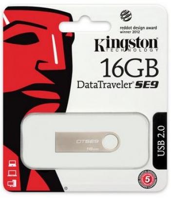 PEN DRIVE 16 GB DATATRAVELER SE9 DTSE9H/16GB USB 2.0 PRATA KINGSTON BOX