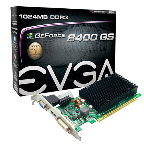 PLACA DE VIDEO 1 GB PCIEXP 8400 01G-P3-1303-KR 64BITS DDR3 GEFORCE NVIDIA VGA/HDMI/DVI EVGA BOX
