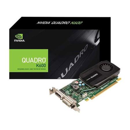 PLACA DE VIDEO 1 GB PCIEXP K600 VCQK600-PB 128BITS DDR3 192 CUDA DVI DP NVIDIA BOX