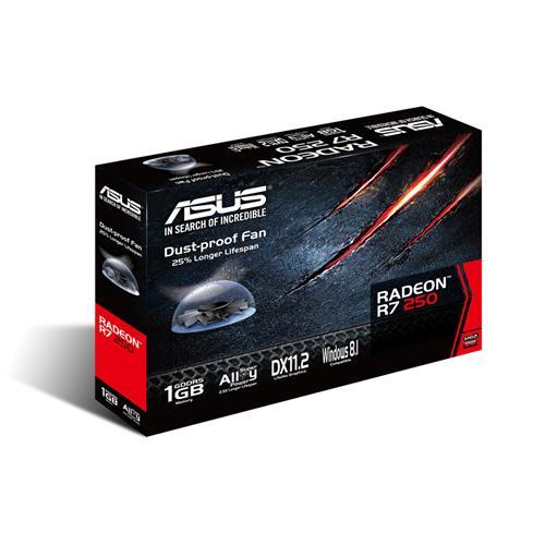 PLACA DE VIDEO 1 GB PCIEXP R7 250 R7250-1GD5 128BITS GDDR5 RADEON ASUS BOX