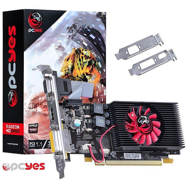 PLACA DE VIDEO 1GB PCIEXP HD 5450 PTYT54506401D3LP 64BITS DDR3 RADEON LOW PROFILE PCYES BOX