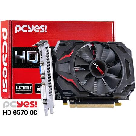 PLACA DE VIDEO 2GB PCIEXP 6570 PS657012802D3 128BITS DDR3 RADEON PCYES BOX