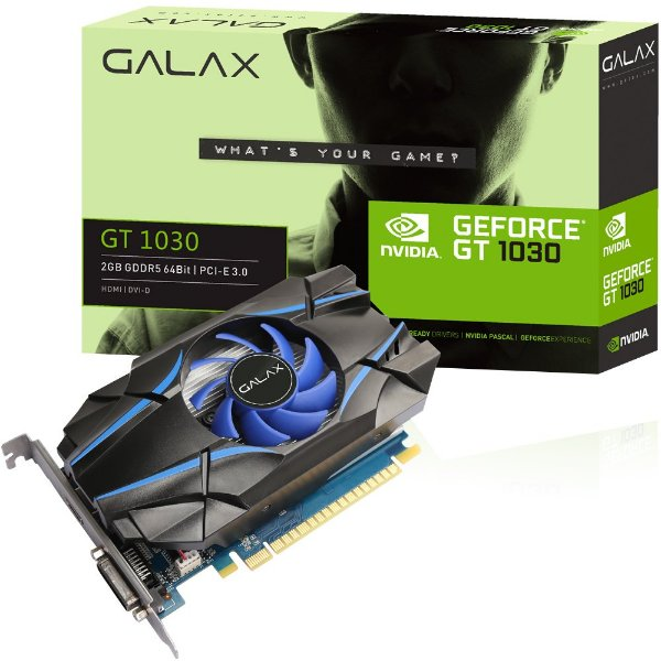 PLACA DE VIDEO 2GB PCIEXP GT 1030 30NPH4HVQ4ST 64BITS DDR5 GALAX BOX