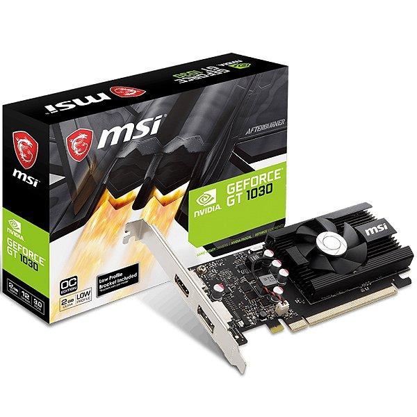 PLACA DE VIDEO 2GB PCIEXP GT 1030 912-V809-2826 64BITS DDR4 MSI BOX