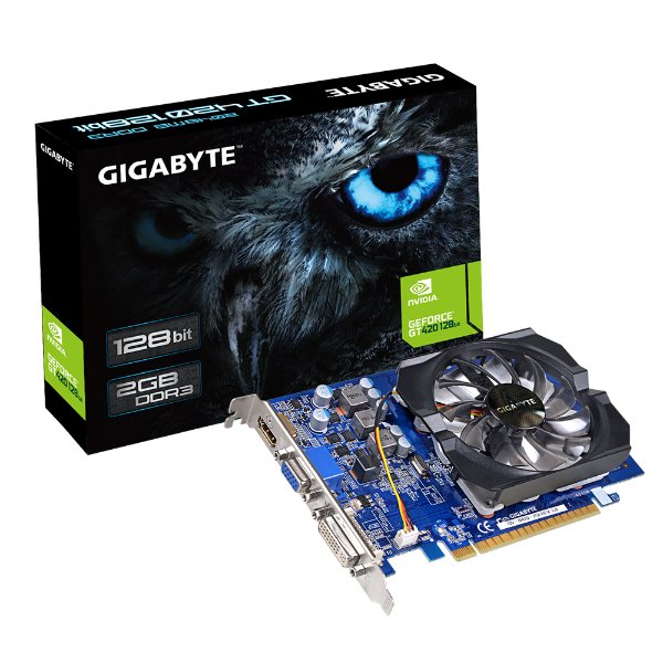 PLACA DE VIDEO 2GB PCIEXP GT 420 GV-N420-2GI 128BITS DDR3 GEFORCE GIGABYTE BOX
