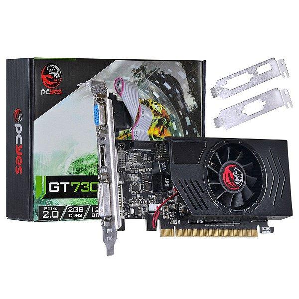 PLACA DE VIDEO 2GB PCIEXP GT 730 128BITS DDR3 NVIDIA PCYES BOX