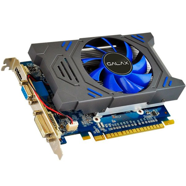 PLACA DE VIDEO 2GB PCIEXP GT 730 73GPH4HXB2TV DDR5 GEFORCE 64BIT DVI-D/HDMI/D-SUB GALAX BOX