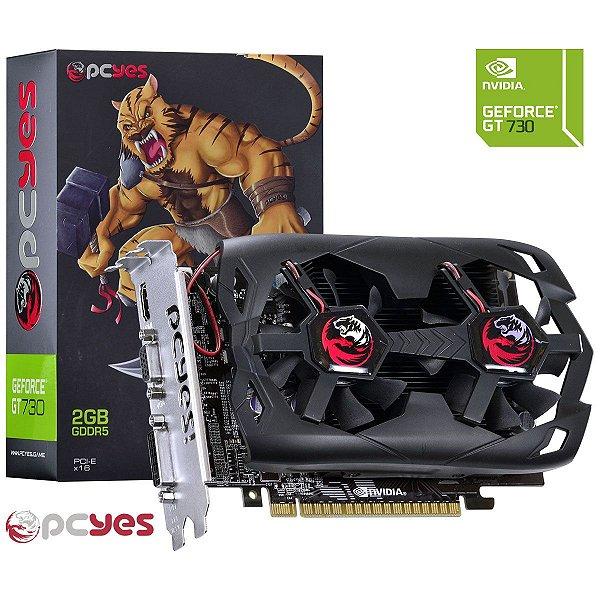 PLACA DE VIDEO 2GB PCIEXP GT 730 N73T2GD5128DF 128BITS GDDR5 GEFORCE PCYES BOX