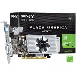 PLACA DE VIDEO 2GB PCIEXP GT 730 VCGGT7302D3LXPB 128BITS DDR3 PNY BOX