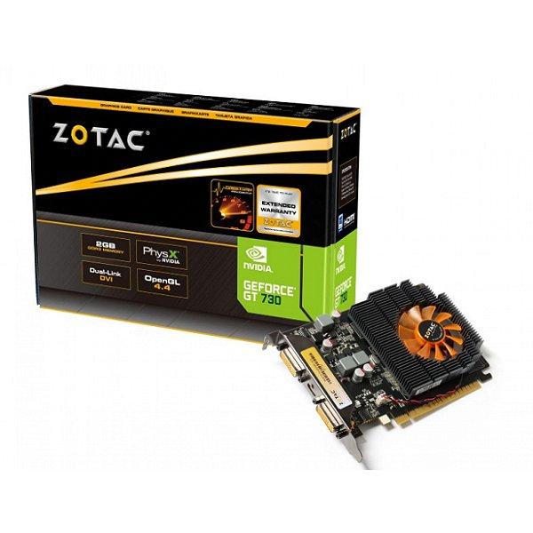 PLACA DE VIDEO 2GB PCIEXP GT 730 ZT-71103-10L 128BITS DDR3 ZOTAC BOX