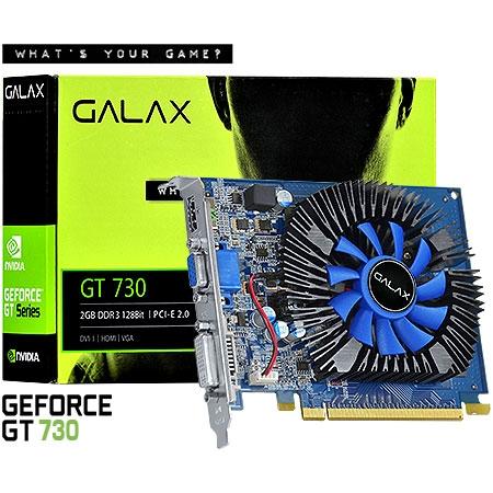 PLACA DE VIDEO 2GB PCIEXP GT730 73GPF8HX3SNS 128BITS DDR3 GALAX NVIDIA BOX
