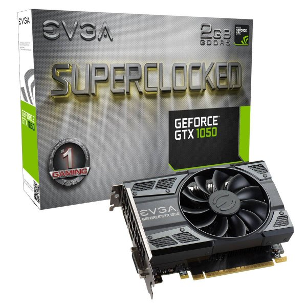 PLACA DE VIDEO 2GB PCIEXP GTX 1050 02G-P4-6152-KR 128BITS DDR5 GEFORCE EVGA BOX