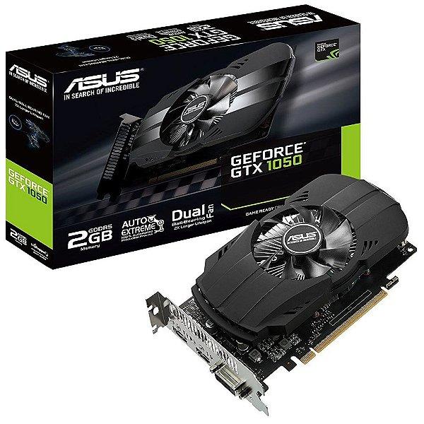 PLACA DE VIDEO 2GB PCIEXP GTX 1050 PH-GTX1050-2G 128BITS GDDR5 GEFORCE ASUS BOX