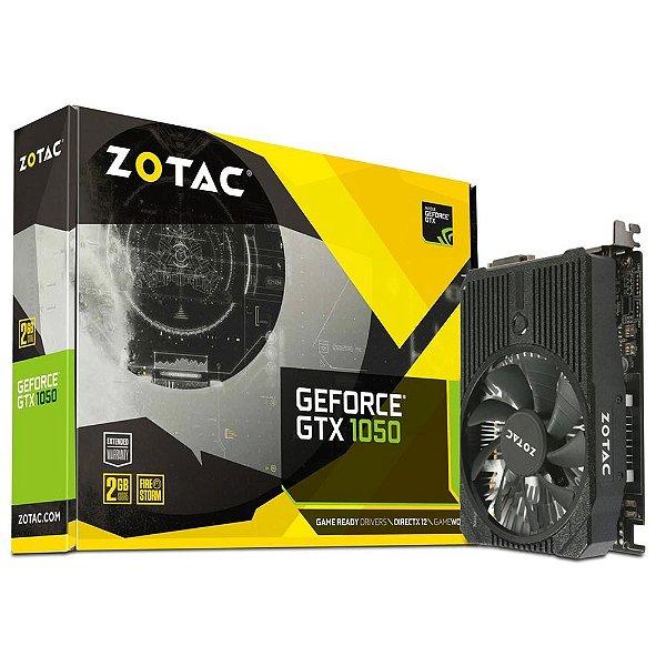 PLACA DE VIDEO 2GB PCIEXP GTX 1050 ZT-P10500A-10L 128BITS GDDR5 GEFORCE ZOTAC BOX
