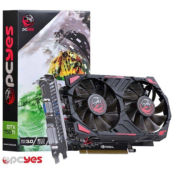 PLACA DE VIDEO 2GB PCIEXP GTX 750 TI PPV750TI12802D5 128BITS DDR5 NVIDIA PCYES BOX