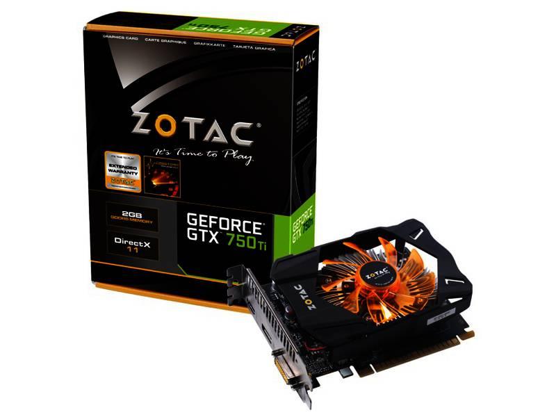 PLACA DE VIDEO 2GB PCIEXP GTX 750 TI ZT-70605-10M 128BITS GDDR5 ZOTAC BOX IMPORTADO