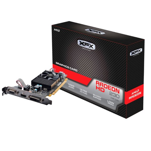 PLACA DE VIDEO 2GB PCIEXP R5 230 R5-230A-CLF2 128BITS DDR3 RADEON XFX BOX