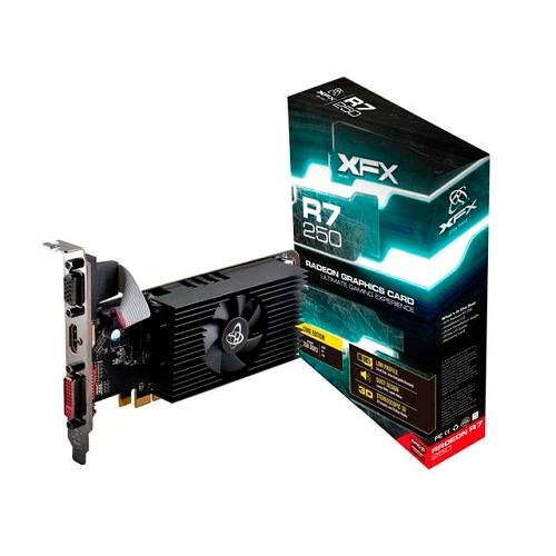 PLACA DE VIDEO 2GB PCIEXP R7 250 R7250ACLF4 DDR3 RADEON 128 BIT XFX BOX