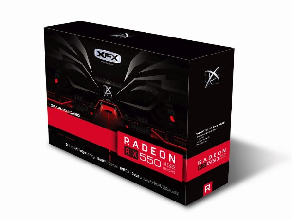 PLACA DE VIDEO 2GB PCIEXP RX 550 RX-550P2TFG5 128BITS DDR5 POINT OF VIEW 128 BIT RADEON XFX BOX