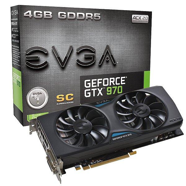 PLACA DE VIDEO 4GB PCIEXP GTX 970 04G-P4-2974-KR 256BITS EVGA BOX