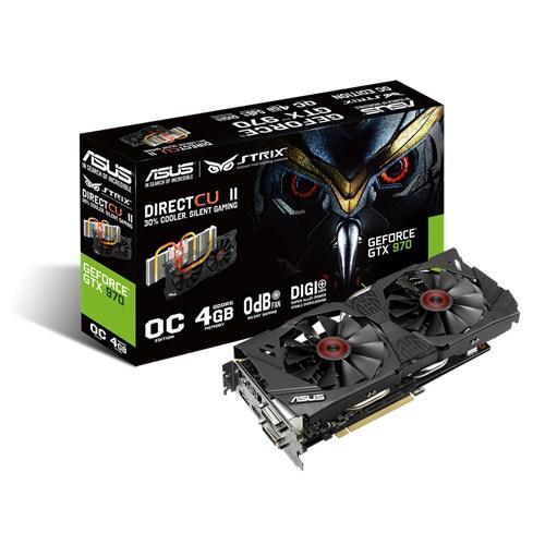 PLACA DE VIDEO 4GB PCIEXP GTX 970 STRIX-GTX970-DC2OC-4GD5 256BITS GDDR5 GEFORCE ASUS BOX