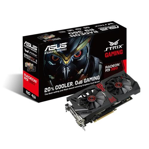 PLACA DE VIDEO 4GB PCIEXP R9 380 STRIX-R9380-DC20C-4GD5-GAMING 256BITS GDDR5 RADEON ASUS BOX