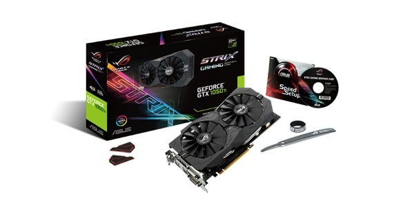 PLACA DE VIDEO 4GB PCIEXP STRIX-GTX1050TI-4G-GAMING 128BITS GDDR5 ASUS BOX IMPORTADO