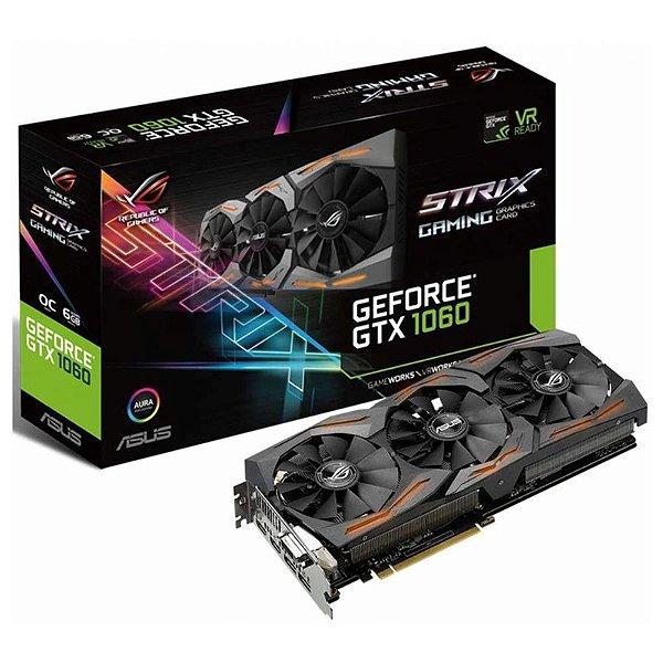 PLACA DE VIDEO 6GB PCIEXP GTX 1060 STRIX-GTX1060-O6G I 192 BITS GDDR5 GEFORCE GIGABYTE BOX