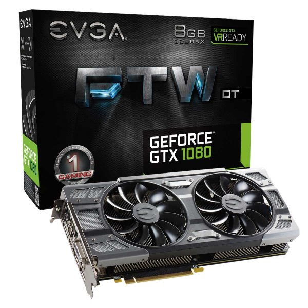 PLACA DE VIDEO 8 GB PCIEXP GTX 1080 08G-P4-6284-KR 256BITS GDDR5 NVIDIA EVGA BOX