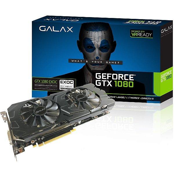 PLACA DE VIDEO 8 GB PCIEXP GTX 1080 80NSJ6DHL4EC 256BITS DDR5X GEFORCE GALAX BOX