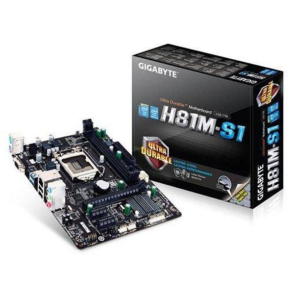 PLACA MAE 1150 MICRO ATX GA-H81M-S1 DDR3 GIGABYTE BOX