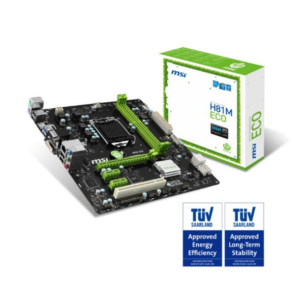 PLACA MAE 1150 MICRO ATX H81M ECO DDR3 MSI BOX IMPORTADO