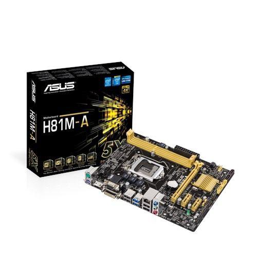PLACA MAE 1150 MICRO ATX H81M-A DDR3 ASUS BOX IMPORTADO