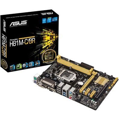 PLACA MAE 1150 MICRO ATX H81M-A/BR DDR3 S/CHAPINHA ASUS OEM