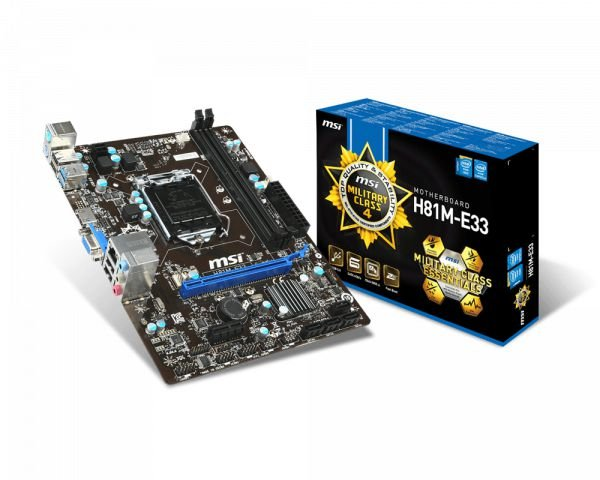 PLACA MAE 1150 MICRO ATX H81M-E33 DDR3 MSI BOX IMPORTADO