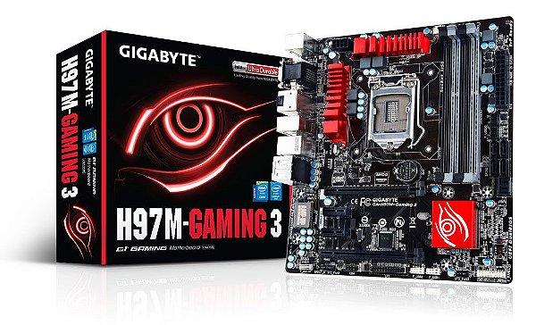 PLACA MAE 1150 S/V/GL GA-H97M-GAMING3 DDR3 USB 3.0 GIGABYTE BOX