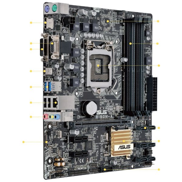 PLACA MAE 1151 MICRO ATX B150M-A / M2 DDR4 ASUS BOX IMPORTADO