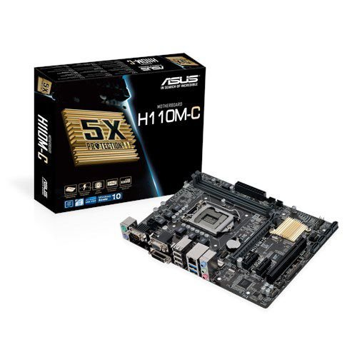 PLACA MAE 1151 MICRO ATX H110M-C CSM DDR4 ASUS BOX IMPORTADO