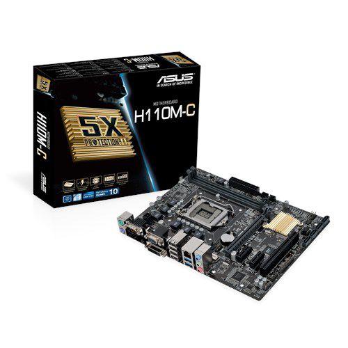 PLACA MAE 1151 MICRO ATX H110M-C DDR4 ASUS BOX IMPORTADO