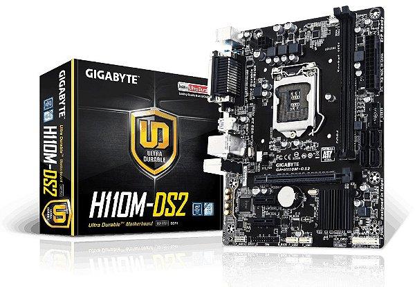 PLACA MAE 1151 MICRO ATX H110M-DS2 DDR4 GIGABYTE BOX IMPORTADO