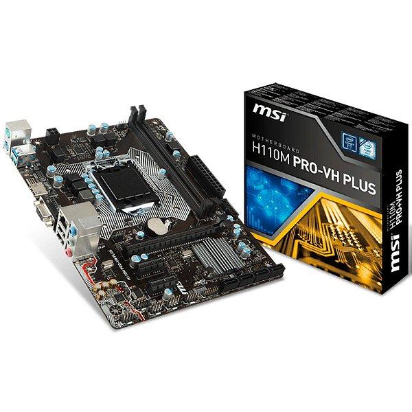 PLACA MAE 1151 MICRO ATX H110M-VD PLUS DDR4 MSI BOX IMPORTADO