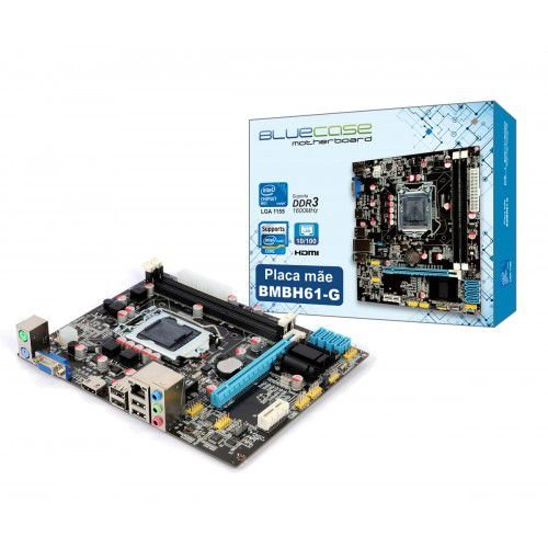 PLACA MAE 1155 MICRO ATX BMBH61-G DDR3 VGA/HDMI BLUECASE BOX