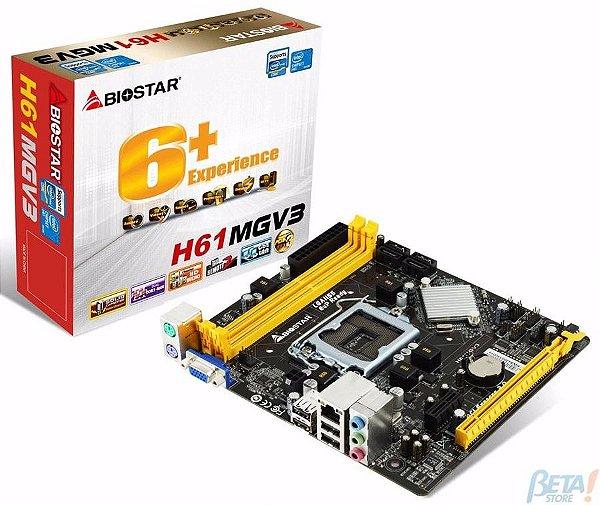 PLACA MAE 1155 MICRO ATX H61MGV3 DDR3 VER 8.0 BIOSTAR BOX IMPORTADO