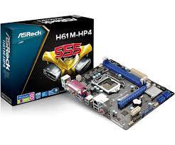 PLACA MAE 1155 MICRO ATX H61M-HP4 C/ SERIAL PARALELA ASROCK BOX