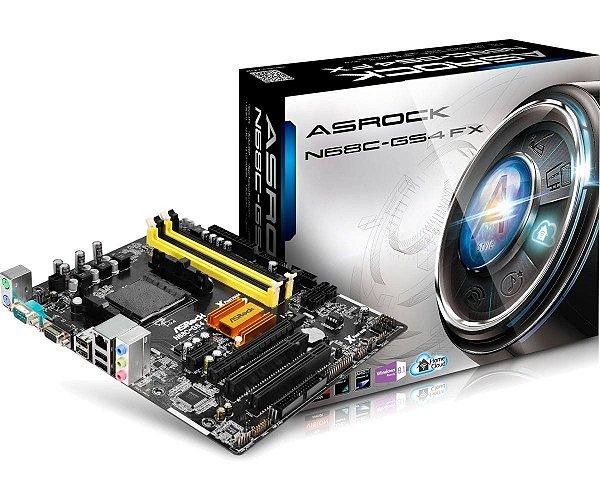 PLACA MAE AM3 N68-GS4 FX DDR3 ASROCK BOX