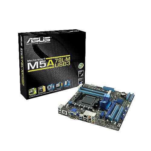 PLACA MAE AM3 S/V/R M5A78L-M/USB3 DDR3 VGA, HDMI, D-SUB, DVI, S/PDIF ASUS BOX IMPORTADO