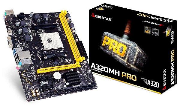PLACA MAE AM4 MICRO ATX A320MH PRO DDR4 VGA/HDMI BIOSTAR BOX