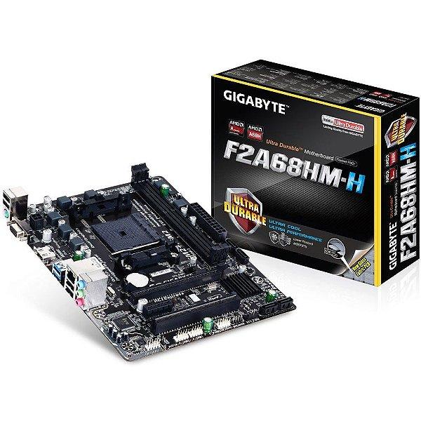 PLACA MAE FM2 ATX GA-F2A68HM-H DDR3 GIGABYTE BOX