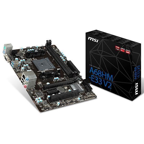 PLACA MAE FM2 MICRO ATX A68HM-E33 V2 DDR3 MSI BOX IMPORTADO